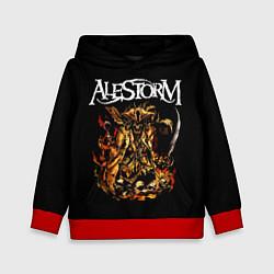 Толстовка-худи детская Alestorm: Flame Warrior цвета 3D-красный — фото 1