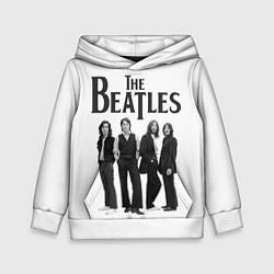 Толстовка-худи детская The Beatles: White Side цвета 3D-белый — фото 1