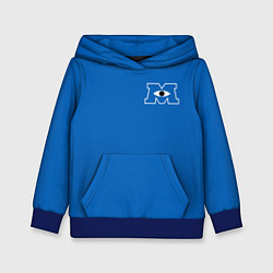 Толстовка-худи детская Университет Монстров цвета 3D-синий — фото 1