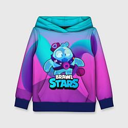 Толстовка-худи детская Сквик Squeak Brawl Stars цвета 3D-синий — фото 1