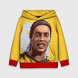 Толстовка-худи детская Ronaldinho Art цвета 3D-красный — фото 1