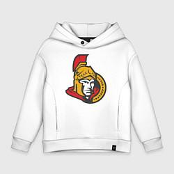 Толстовка оверсайз детская Ottawa Senators цвета белый — фото 1