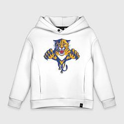 Толстовка оверсайз детская Florida Panthers цвета белый — фото 1