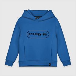 Толстовка оверсайз детская Prodigy лого с муравьем цвета синий — фото 1