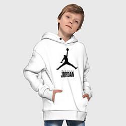 Толстовка оверсайз детская Jordan Style цвета белый — фото 2