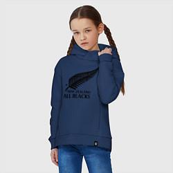 Толстовка оверсайз детская New Zeland: All blacks цвета тёмно-синий — фото 2