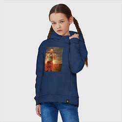 Толстовка оверсайз детская American Gods: Czernobog цвета тёмно-синий — фото 2