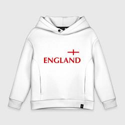Толстовка оверсайз детская Сборная Англии: 10 номер цвета белый — фото 1