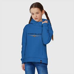 Толстовка оверсайз детская Chrysler logo цвета синий — фото 2