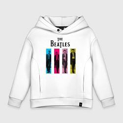 Толстовка оверсайз детская Walking Beatles цвета белый — фото 1
