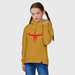 Толстовка оверсайз детская Quake logo цвета горчичный — фото 2