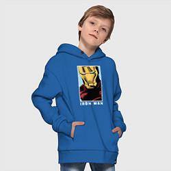 Толстовка оверсайз детская Iron Man цвета синий — фото 2