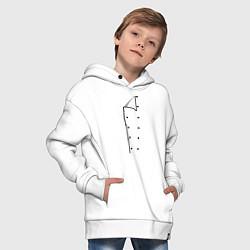 Толстовка оверсайз детская Шеф повар цвета белый — фото 2