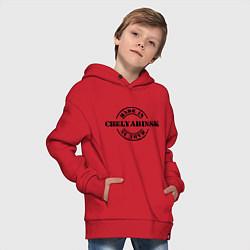 Толстовка оверсайз детская Made in Chelyabinsk цвета красный — фото 2