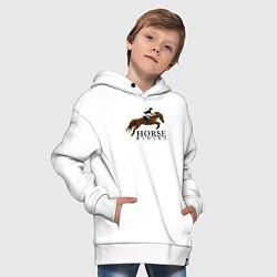 Толстовка оверсайз детская HORSE RIDING цвета белый — фото 2