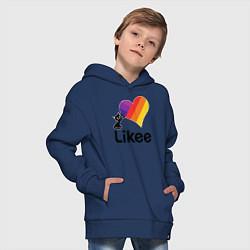 Толстовка оверсайз детская Likee LIKE Video цвета тёмно-синий — фото 2