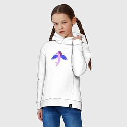 Толстовка оверсайз детская Летающий конёк цвета белый — фото 2