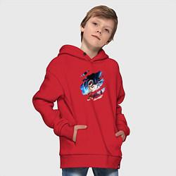 Толстовка оверсайз детская Dragon Ball цвета красный — фото 2