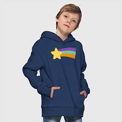Толстовка оверсайз детская Радужный свитер Мэйбл цвета тёмно-синий — фото 2