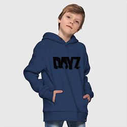 Толстовка оверсайз детская DayZ цвета тёмно-синий — фото 2
