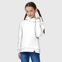 Толстовка оверсайз детская Ирландский костюм цвета белый — фото 2