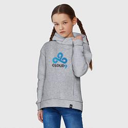 Толстовка оверсайз детская Cloud9 цвета меланж — фото 2