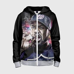 Толстовка на молнии детская Ice Cube: Big boss цвета 3D-меланж — фото 1