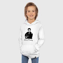 Толстовка детская хлопковая Elvis Presley цвета белый — фото 2