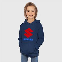 Толстовка детская хлопковая Suzuki цвета тёмно-синий — фото 2