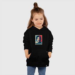 Толстовка детская хлопковая Lennon Imagine цвета черный — фото 2