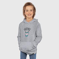 Толстовка детская хлопковая Best friends цвета меланж — фото 2
