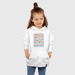Толстовка детская хлопковая Эквалайзер цвета белый — фото 2