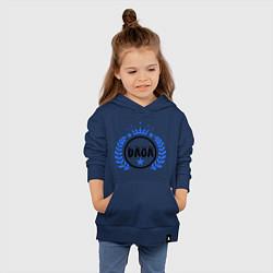 Толстовка детская хлопковая Daga цвета тёмно-синий — фото 2