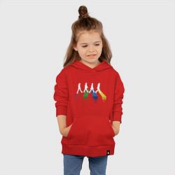 Толстовка детская хлопковая Beatles Color цвета красный — фото 2