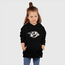 Толстовка детская хлопковая Nashville Predators: Radulov 47 цвета черный — фото 2