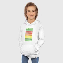 Толстовка детская хлопковая Armin van Buuren: EQ цвета белый — фото 2