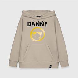 Толстовка детская хлопковая HU: Danny цвета миндальный — фото 1