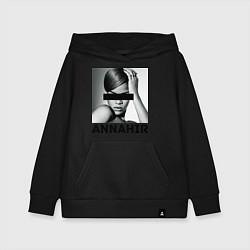 Толстовка детская хлопковая Rihanna цвета черный — фото 1