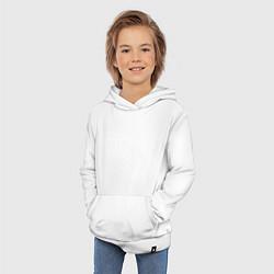 Толстовка детская хлопковая Kasabian: Symbol цвета белый — фото 2