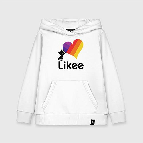 Детская толстовка-худи Likee LIKE Video / Белый – фото 1