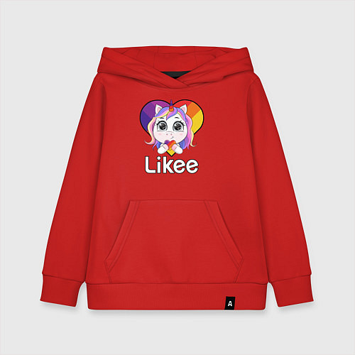 Детская толстовка-худи Likee LIKE Video / Красный – фото 1