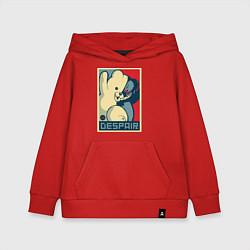 Толстовка детская хлопковая Monokuma цвета красный — фото 1