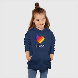 Толстовка детская хлопковая Likee LIKE Video цвета тёмно-синий — фото 2