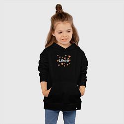 Толстовка детская хлопковая Likee цвета черный — фото 2