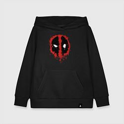 Толстовка детская хлопковая Deadpool logo цвета черный — фото 1