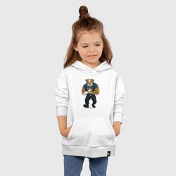 Толстовка детская хлопковая ПИТБУЛЬ SECURITY Z цвета белый — фото 2