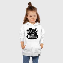 Толстовка детская хлопковая The Beatles Band цвета белый — фото 2
