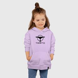 Толстовка детская хлопковая Tiesto цвета лаванда — фото 2