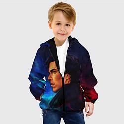 Детская 3D-куртка с капюшоном с принтом Шерлок, цвет: 3D-черный, артикул: 10102990405458 — фото 2