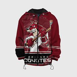 Куртка с капюшоном детская Arizona Coyotes цвета 3D-черный — фото 1